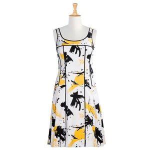 eshakti Dresses - eShakti Abstract Print Dress